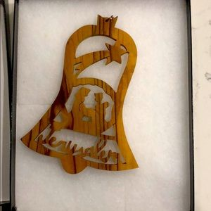 Jerusalem wooden ornament